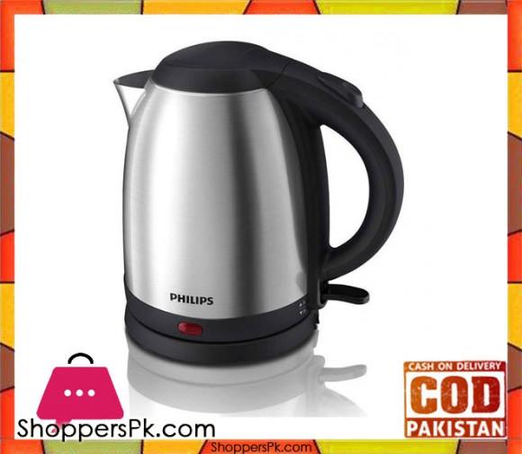 Philips HD9306/03 - Kettle - 1.5 L - 1800 W - Silver & Black (Brand Warranty) - Karachi Only