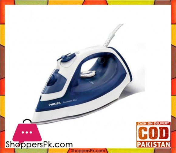 Philips Powerlife Plus Iron Blue & White - Karachi Only