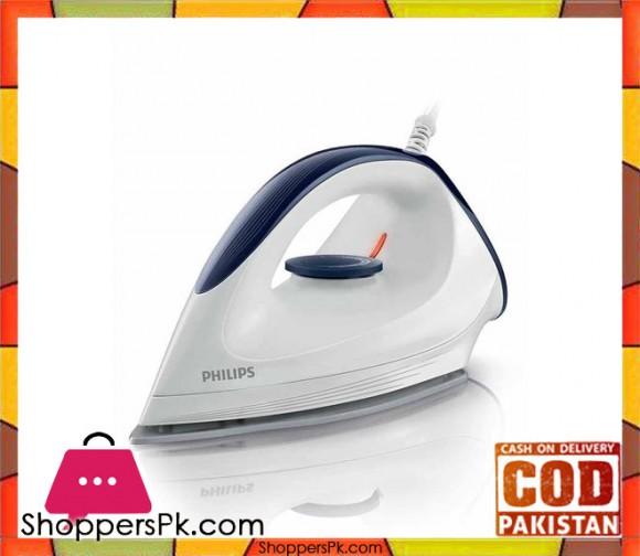 Philips GC160/02 - Affinia Dry Iron - 1200 W - White (Brand Warranty) - Karachi Only