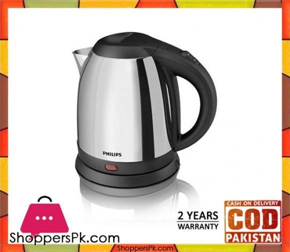 Philips HD9303 - Stainless Steel Kettle - 1.2 LTR - Silver & Black - Karachi Only