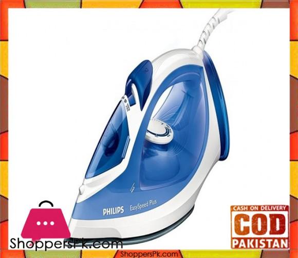 Philips GC-2046/20 EasySpeed Steam Iron - Blue - Karachi Only