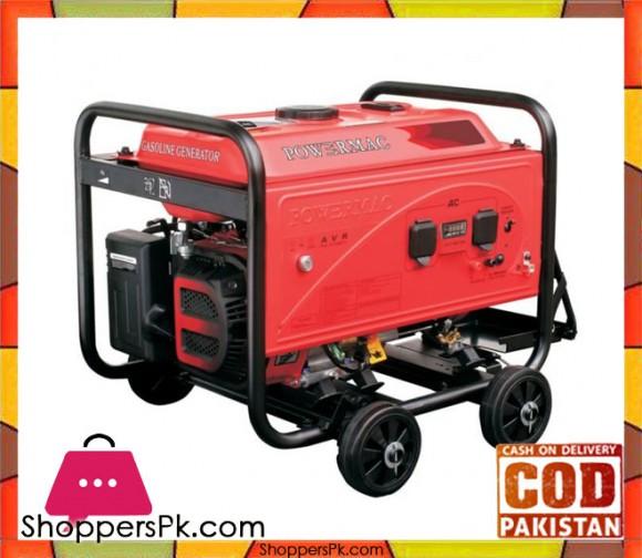 PM10900D - Powermac Petrol Generator - 7000watts(Max.) - Red - Karachi Only