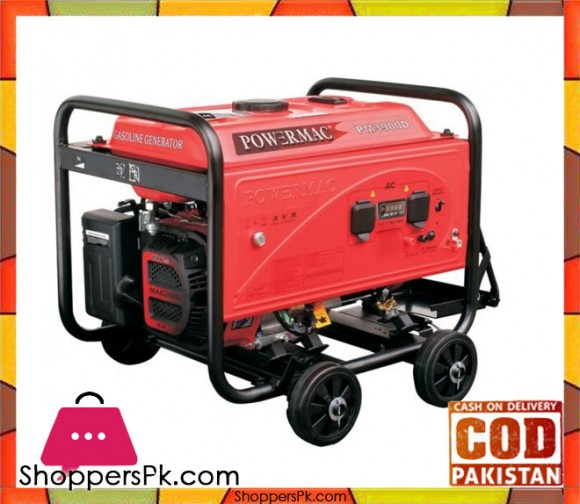 Powermac PM3900D - Powermac Petrol Generator - 2200 watts (Max.) - Red - Karachi Only