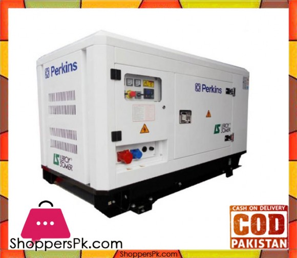 Perkins Engine - Diesel Generator Soundproof - 13KVA / 11KW - White - Karachi Only