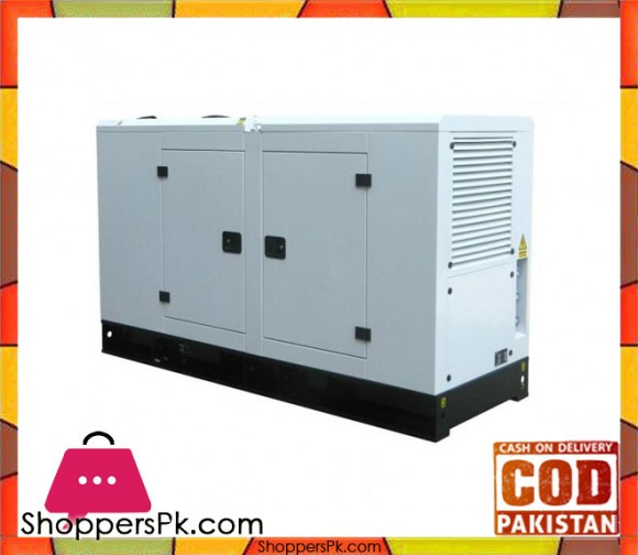 Perkins Engine - Soundproof 60KVA / 48KW - Diesel Generator - White - Karachi Only