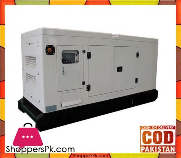 Perkins Engine - Soundproof Canopy Diesel Generator - 100KVA / 80KW - White - Karachi Only