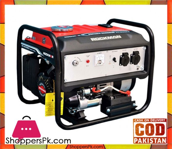 Rockman  RC1600ES - 1.5 kVa Generator - Black & Red - Karachi Only