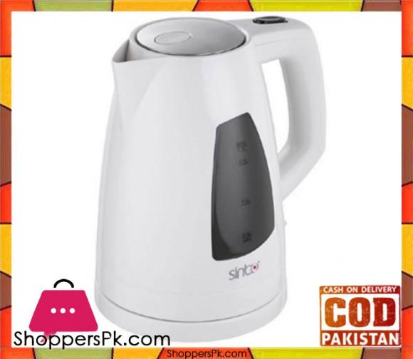 Sinbo Plastic Cordless Kettle - SK-7302 - White - Karachi Only