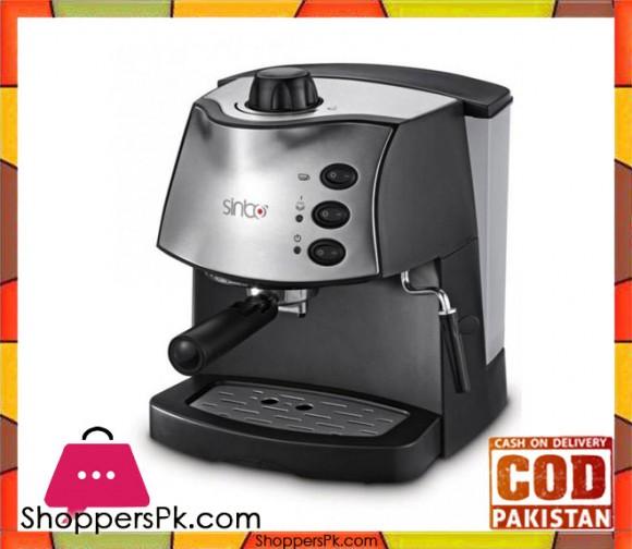 Sinbo SCM-2937 - Espresso & Cappuccino Machine - Black & Silver - Karachi Only