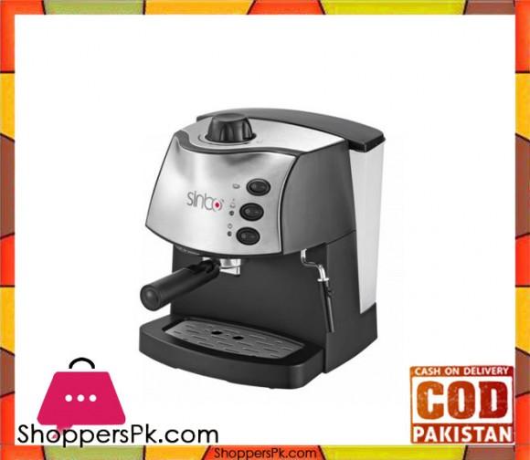 Sinbo Espresso Coffee Maker SCM -2937 - 850W - Grey - Karachi Only