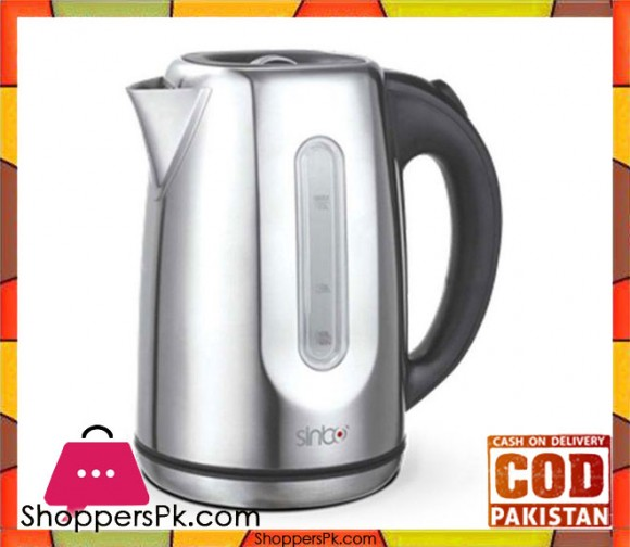 Sinbo Cordless Steel Electric Kettle - SK-7309 - Silver - Karachi Only