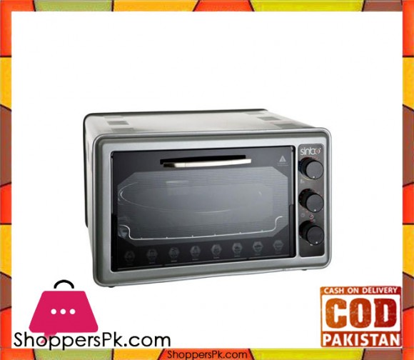 Sinbo SMO-3635 - Mini Electric Oven - Silver (Brand Warranty) - Karachi Only
