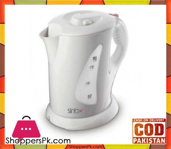 Sinbo SK 2386 - Plastic Cordless Kettle - White - Karachi Only