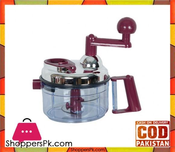 Sogo HC-01 - Hand Chopper - Maroon & Silver - Karachi Only