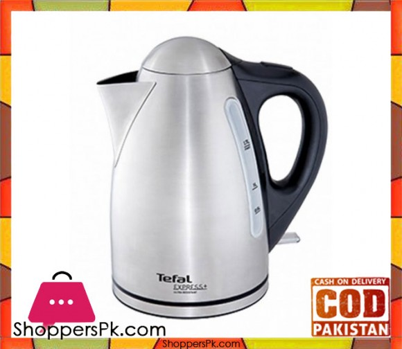 Tefal Steel Electric Kettle - Silver & Black - Karachi Only