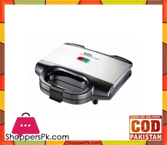 Tefal Ultra Compact Sandwich Maker - Silver & Black - Karachi Only