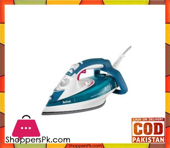 Tefal 5375 FV5375L0 - Steam Iron Aquaspeed - Green (Brand Warranty) - Karachi Only