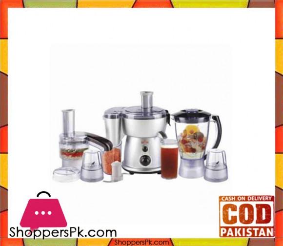 Westpoint WF-2804S - 5 In 1 Deluxe Kitchen Chef - Silver & Black - 450 Watts - Karachi Only