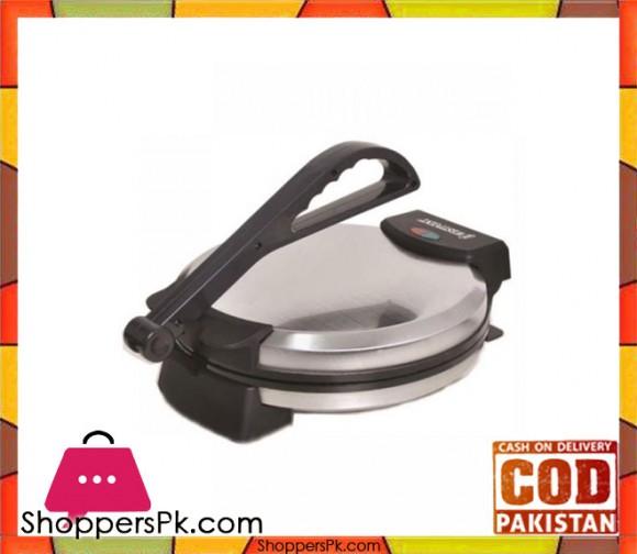 "Westpoint WF-6514 - 12"" Deluxe Roti Maker - Silver & Black - Karachi Only"