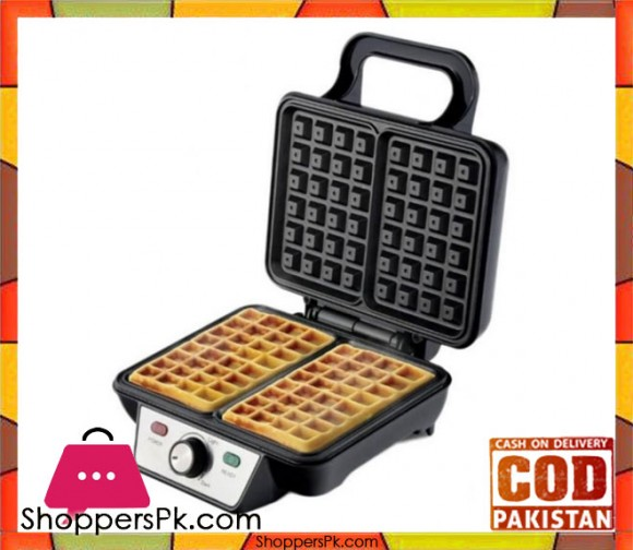 Westpoint WF-8102 - Deluxe Waffle Maker - Silver & Black - Karachi Only