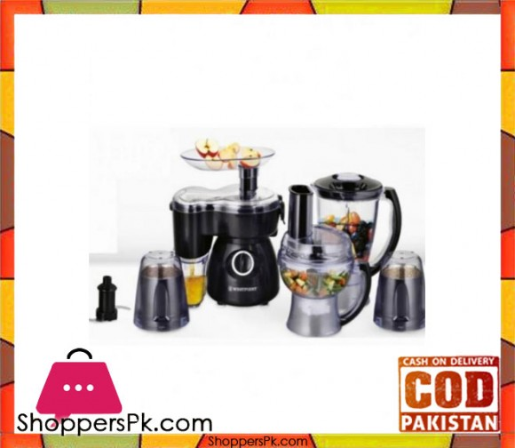 Westpoint WF-1804 - Deluxe Food Processor - Black - Karachi Only