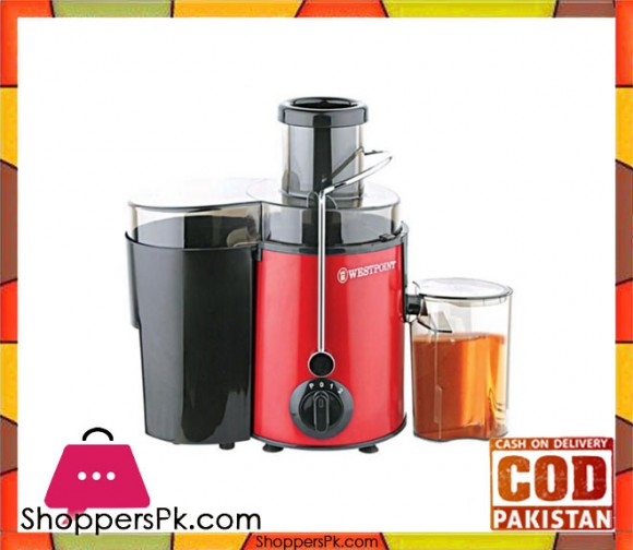 Westpoint Deluxe Juicer - WF-5160 - 500 Watts - Red STEEL BODY - Karachi Only