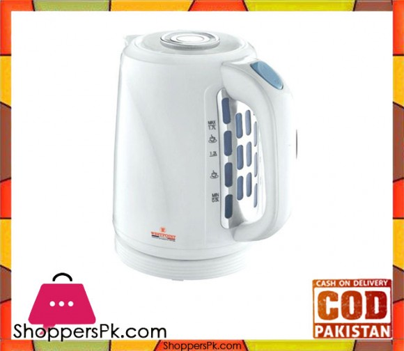 Westpoint WF-999 - Deluxe Cordless Kettle Concealed Element - White - 1850-2200 Watts - Karachi Only