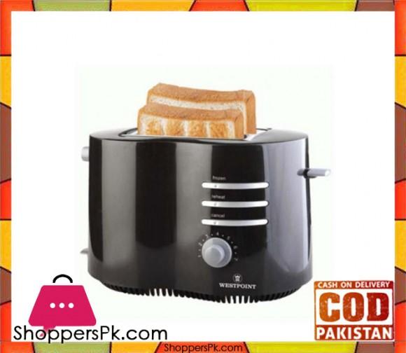 Westpoint WF-2542 - Deluxe 2 Slice Pop-Up Toaster - Black - Karachi Only