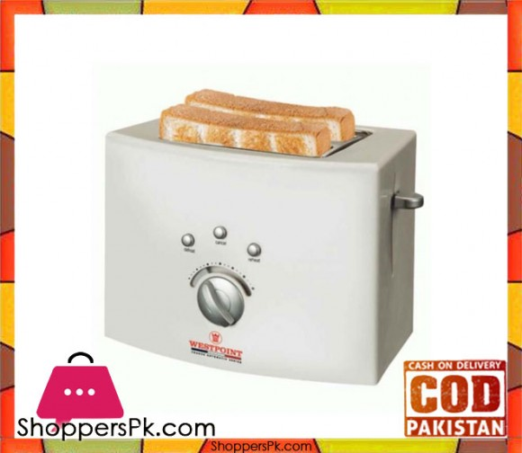 Westpoint WF-2540 - Deluxe 2 Slice Pop-Up Toaster - White - Karachi Only