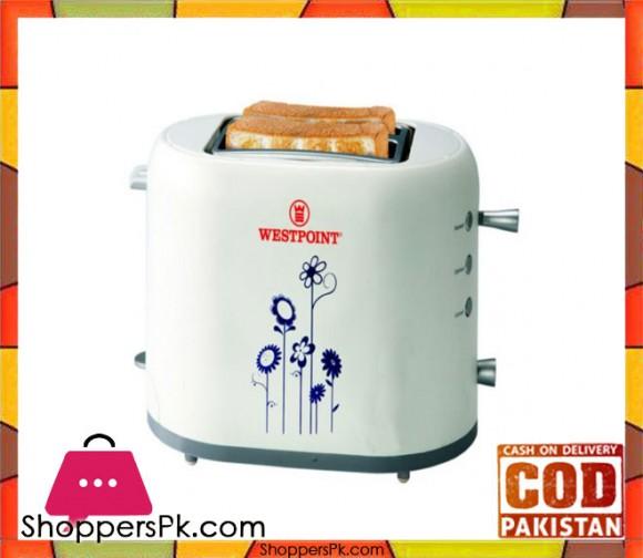 Westpoint WF-2550 - Deluxe 2 Slice Pop-Up Toaster - White - Karachi Only