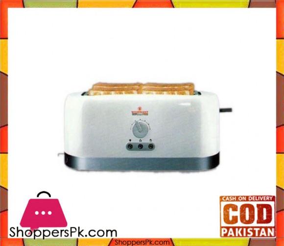 Westpoint WF-2528 - Deluxe 4 Slice Pop-Up Toaster - White & Grey - Karachi Only