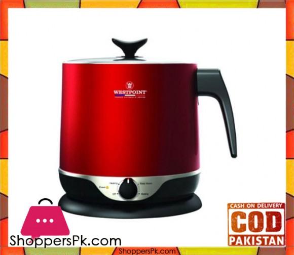 Westpoint WF-6175 - Deluxe Multifunction kettle Concealed Element - Red 1.8 Liter - 1000 Watts - Karachi Only