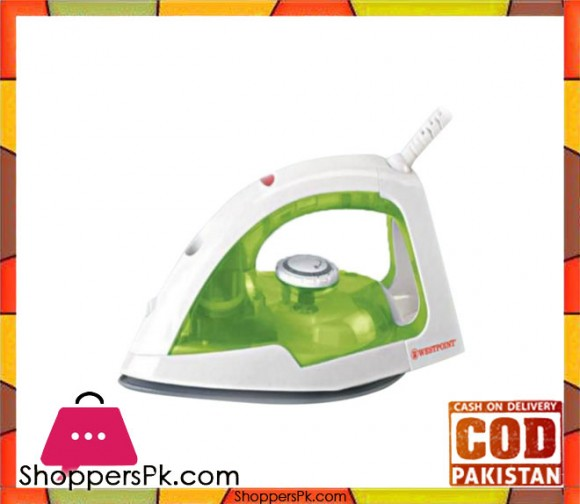 Westpoint Deluxe Dry Iron WF-635 - White & Green - Karachi Only
