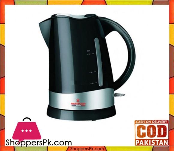 Westpoint WF-8266 - Electric Tea Kettle - 1.7 LTR - Silver & Black Concealed Element Plastic Body - Karachi Only