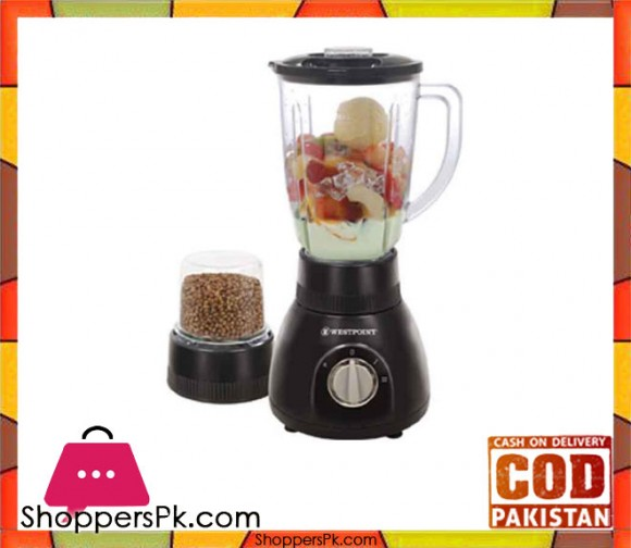 Westpoint WF-214 - Blender and Dry Mill - Black - Karachi Only