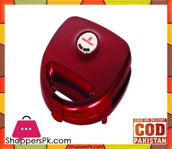 Westpoint WF-633 - Deluxe Sandwich Maker - Red - Karachi Only