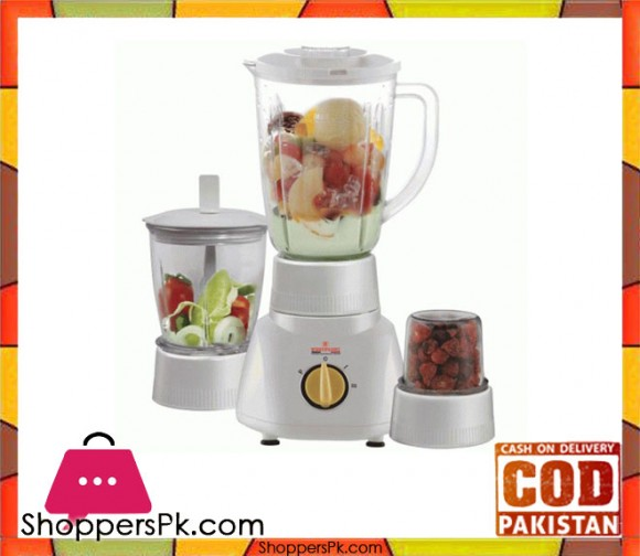 Westpoint WF-313 - Blender Dry & Chopper Mill - 3 in 1 - White - Karachi Only