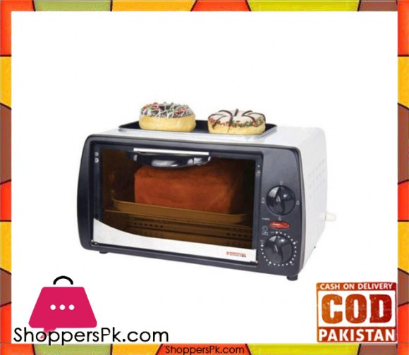 Westpoint WF-1000D - Toaster Oven With Hot Plate - White & Black - 800 Watts - Karachi Only