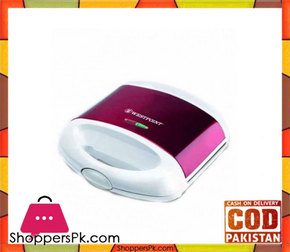 Westpoint WF-6676 - Sandwich Maker - White & Purple - Karachi Only