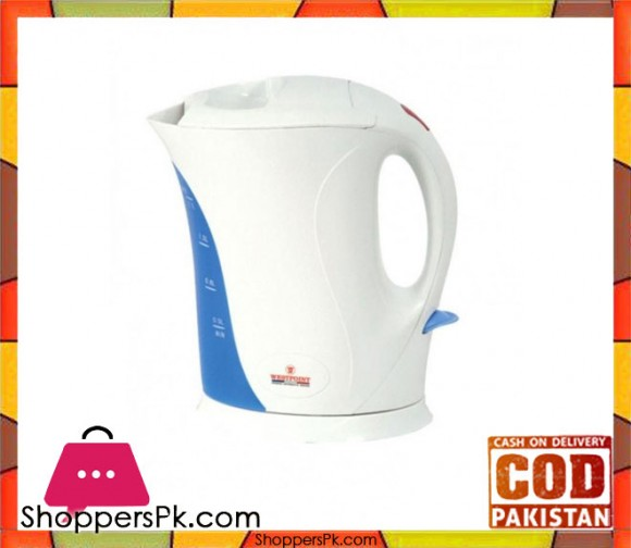 Westpoint WF-3117 - Deluxe Cordless Kettle - White & Blue - 1.7 Liter Open Element - Karachi Only