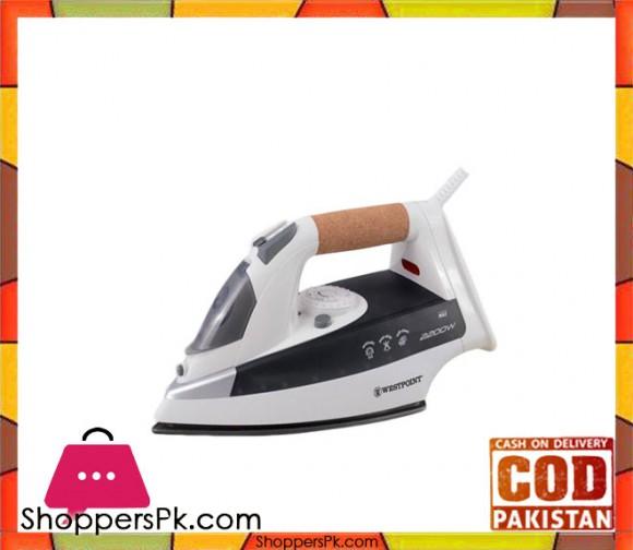Westpoint Deluxe Steam Iron - WF-2020 - 2200 Watts - White & Grey - Karachi Only