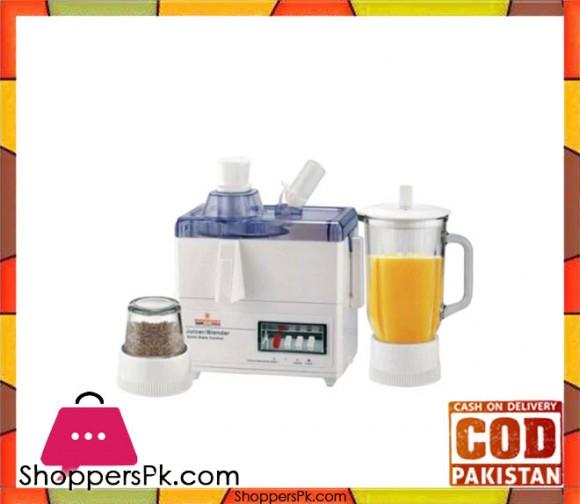 Westpoint Deluxe 3 in 1 Juicer, Blender & Dry Mill - WF-7501 - 500 Watts - White - Karachi Only