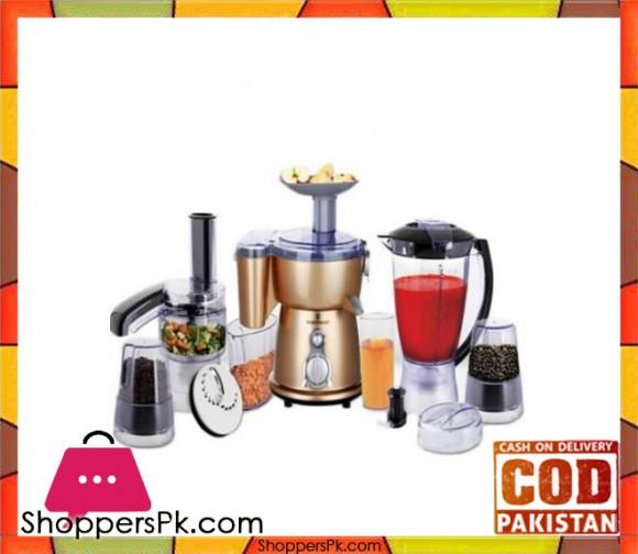 Westpoint 5 in 1 Food Processor - WF-2802 - Golden - Karachi Only