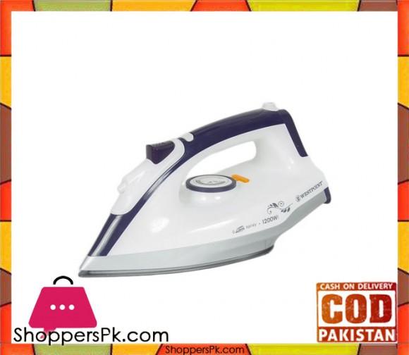 Westpoint Deluxe Dry Iron WF-2432 - 1200W - White - Karachi Only