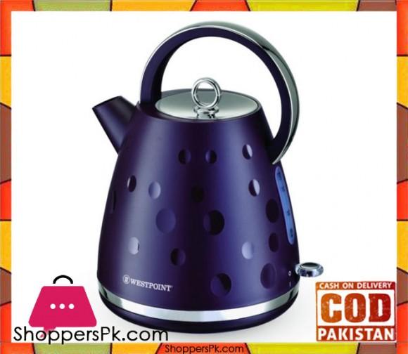 Westpoint Deluxe Cordless Kettle Plastic Body - WF-8248 - 1.7 LTR - Purple - Karachi Only