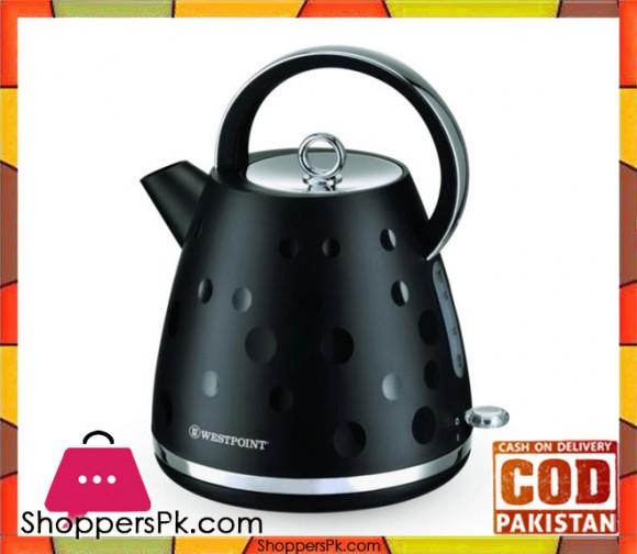 Westpoint Deluxe Cordless Kettle Plastic Body- WF-8247 - 1.7 LTR - Black - Karachi Only