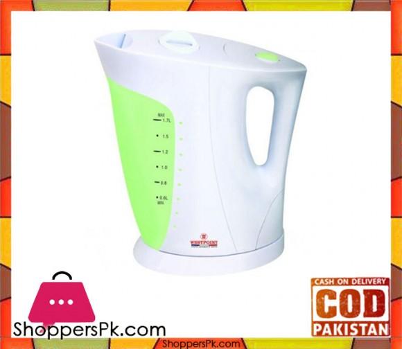 Westpoint WF-3116 - Electric Tea Kettle Open Element - Green & White Plastic Body - Karachi Only
