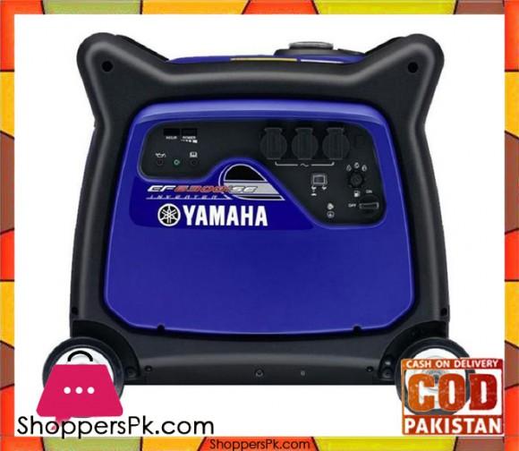 Yamaha Sound Proof Inverter Petrol Generator 6.3 KVA - Made in Japan - EF6300iSE - Blue & Black - Karachi Only