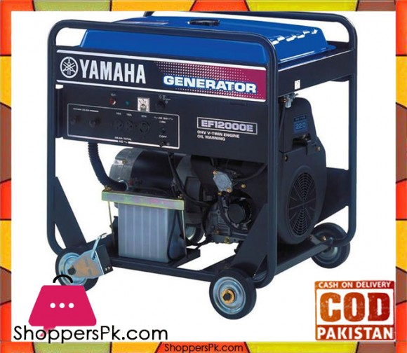 Yamaha Petrol Generator 10 KVA - Made in Japan - EF12000E - Blue - Karachi Only