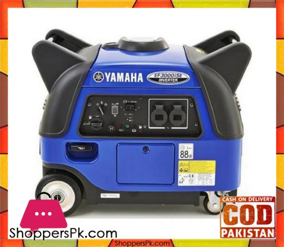 Yamaha Sound Proof Inverter Petrol Generator 3.0 KVA - Made in Japan - EF3000iSE - Blue - Karachi Only
